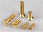 Brass bolt hex bolt